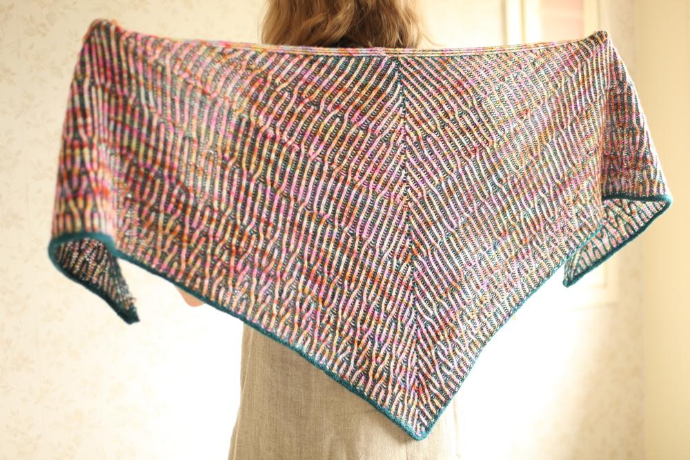 Humus shawl, reverse side