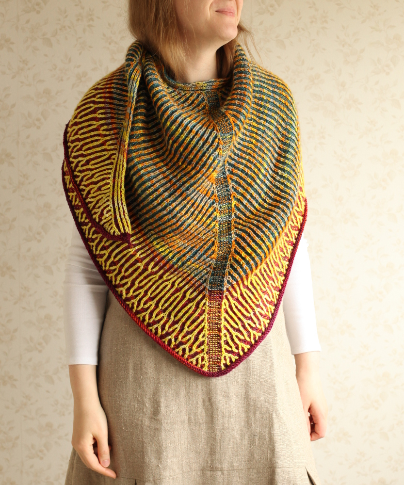 Wrapped in Honka shawl
