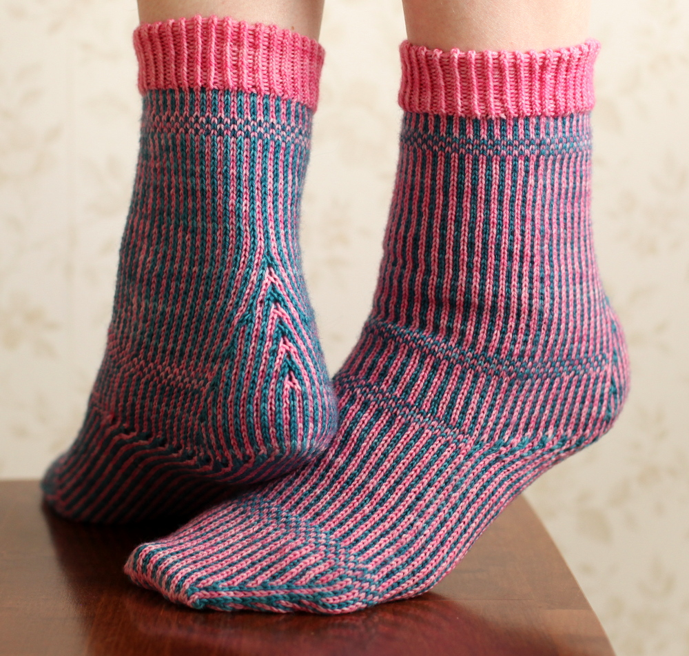Miriam socks, side and back