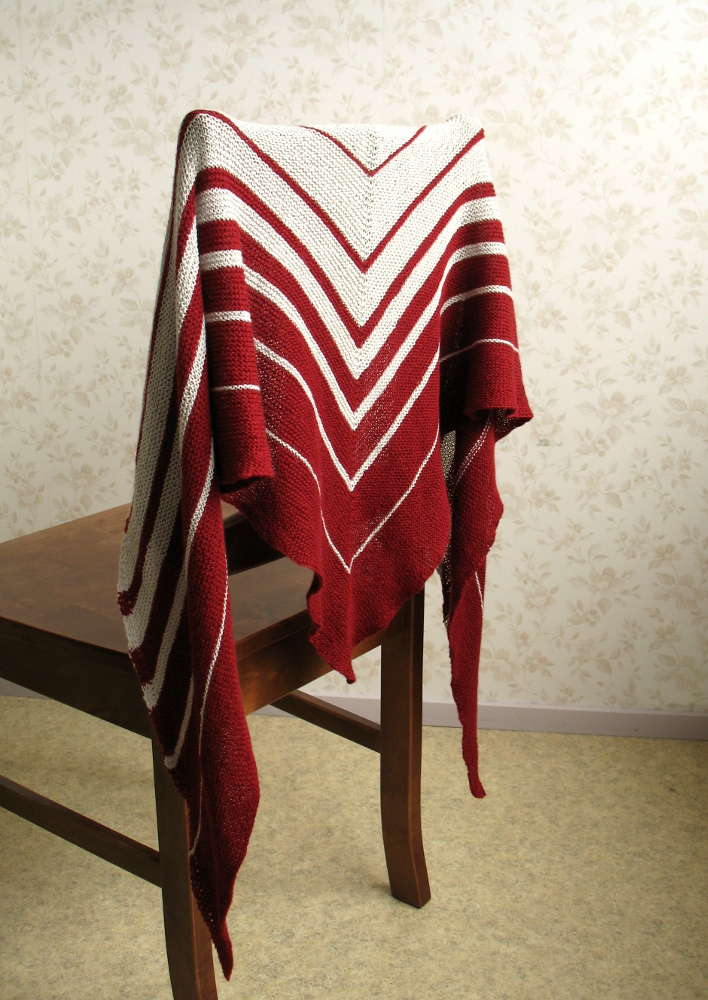 Sumu shawl on a chair