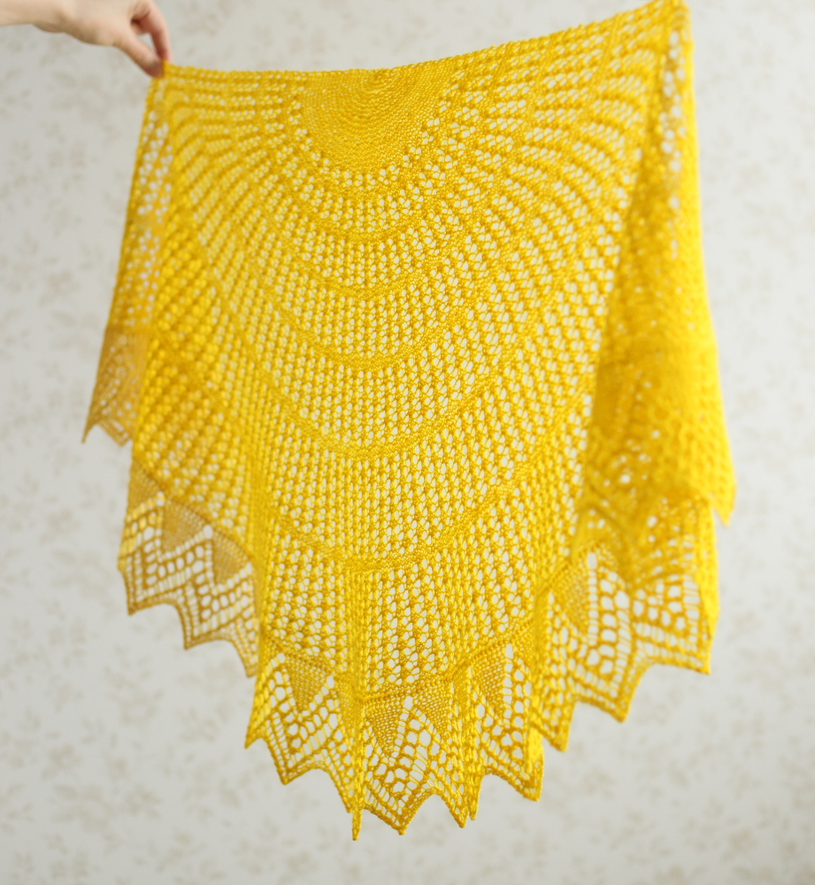 Yellow Halo shawl